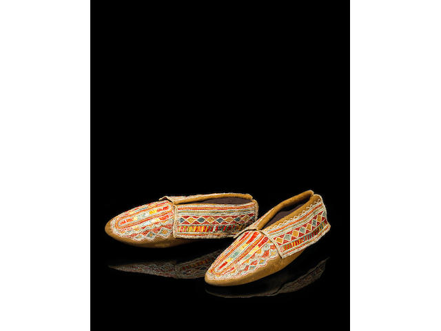 A pair of Iroquois moccasins