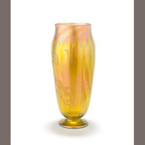 A Tiffany Studios Favrile glass decorated vase