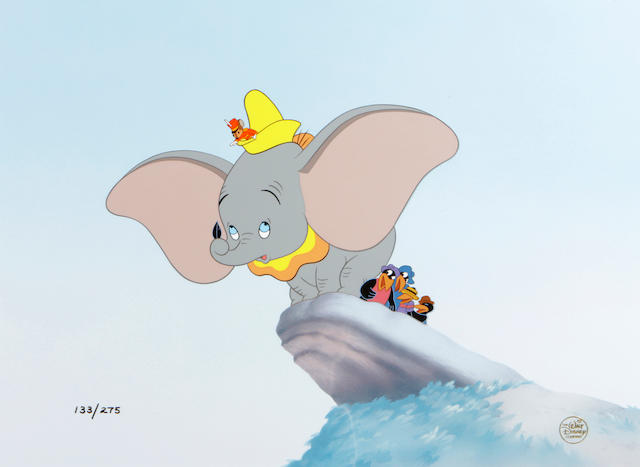 A Walt Disney limited edition celluloid of Dumbo