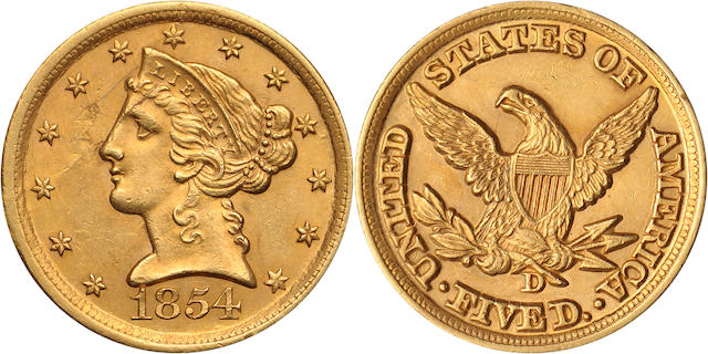 1854-D $5