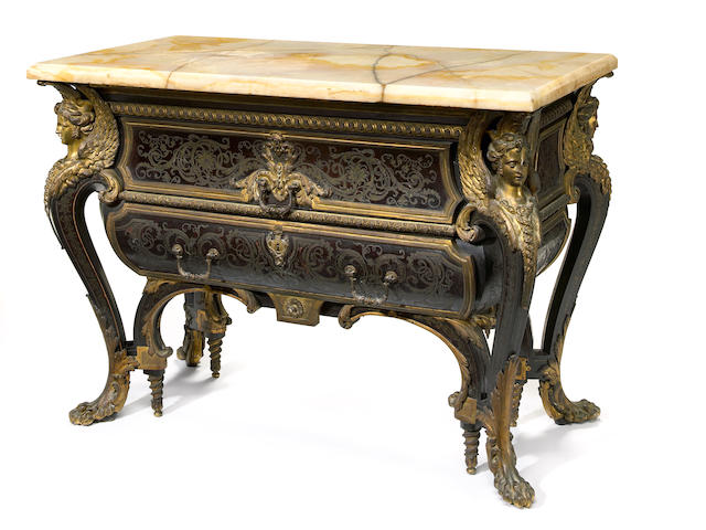 A Louis XIV style Boulle commode