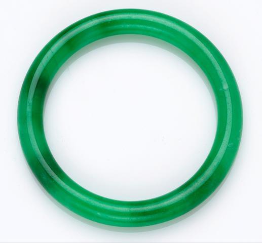 A jadeite jade bangle bracelet