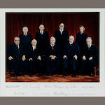 Photograph Signed by the Burger court