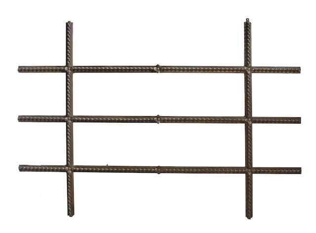 A rare Samuel Yellin wrought-iron room divider