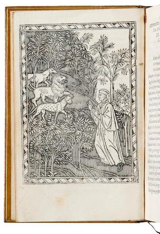 DANTE ALIGHIERI. Commedia ... insieme con uno dialogo circa el sito forma et misure dello inferno. Florence: Philippo Giunta, August 20, 1506.
