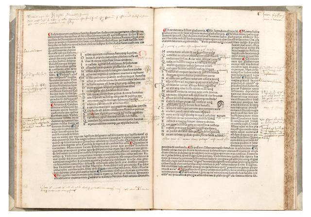 JUVENALIS, DECIMUS JUNIUS. c.60-140. Satyrae. Vicenza: Henricus de Sancto Ursio, Zenus, 1480.