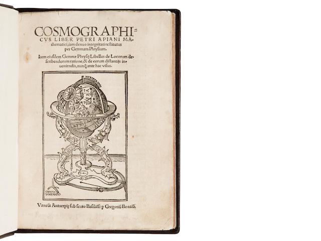 APIANUS, PETRUS. 1495-1552. Cosmographicus liber iam denuo integritati vestitutus per Gemmam Phrysium. Antwerp: Gregorius Bontius, [1533].