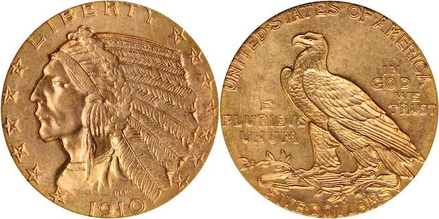 1910 $5 MS64 PCGS