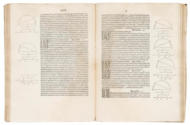 EUCLID. Fl. 300 B.C. Elementa geometriae. Venice: Erhard Ratdolt, May 25, 1482.