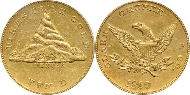 1860 Clark Gruber & Co. $10 Genuine PCGS