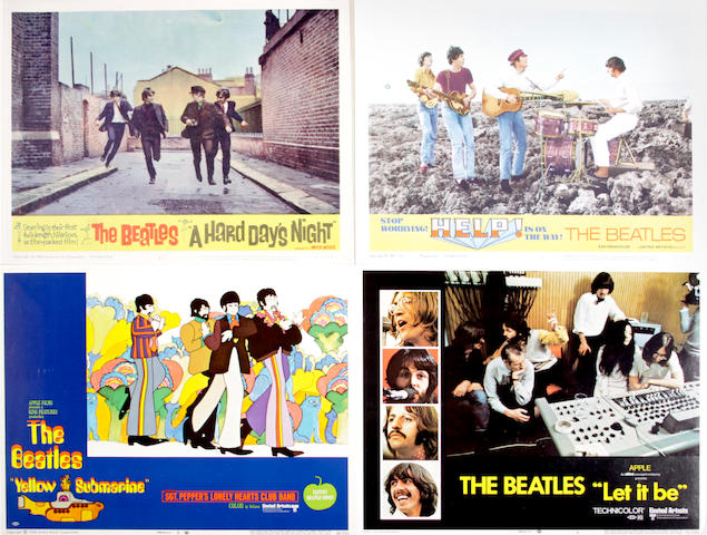 The Beatles lobby cards