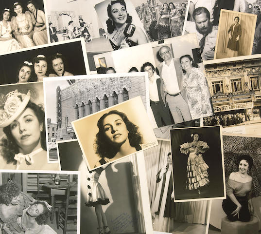 A character actress' group of black and white photographs, 1940s-1980s