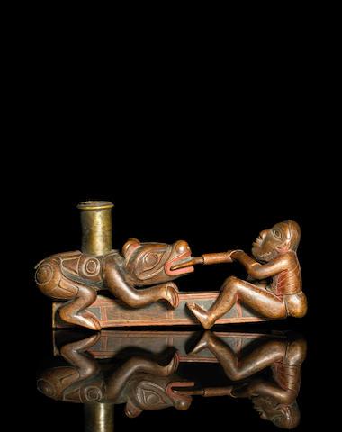 A Tlingit pipe