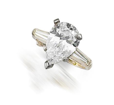 A fine diamond solitaire ring