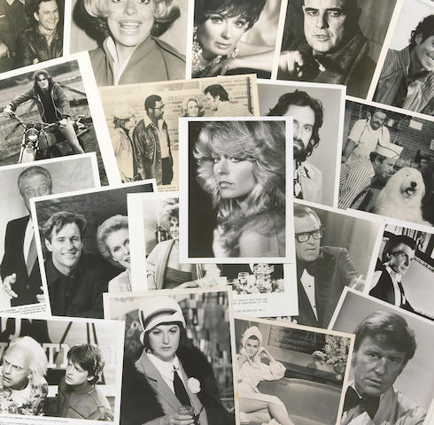 A group of black and white film and television stills, 1970s-1980s