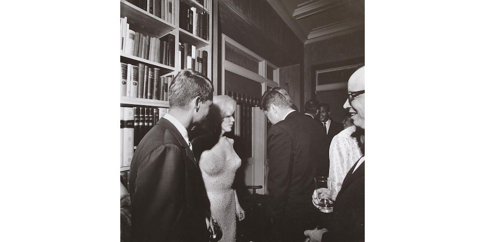 MARILYN MONROE AT JFK PARTY.
