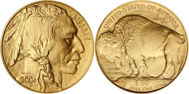 2006 $50 Gold Buffalo MS70 First Strike NGC