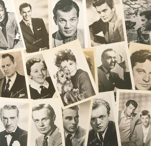 A large collection of 'actor' exhibit cards, 1950s-1960s