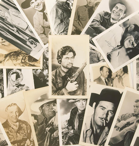 A large collection of 'cowboy' exhibit cards, 1950s-1960s