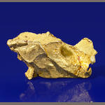 Unusual Native Gold Nugget with Unique Inclusion