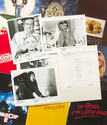 A collection of complete press kits from films, 1970s-1980s