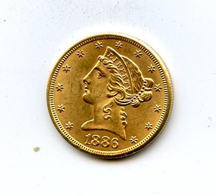1886-S $5