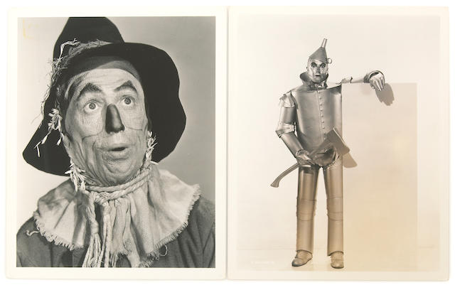 "A set of black and white publicity photographs from ""The Wizard of Oz"""