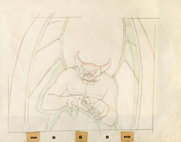 "A Walt Disney animation drawing from ""Fantasia"""