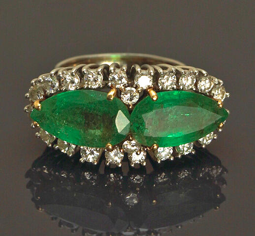 An emerald and diamond ring, Laykin et Cie