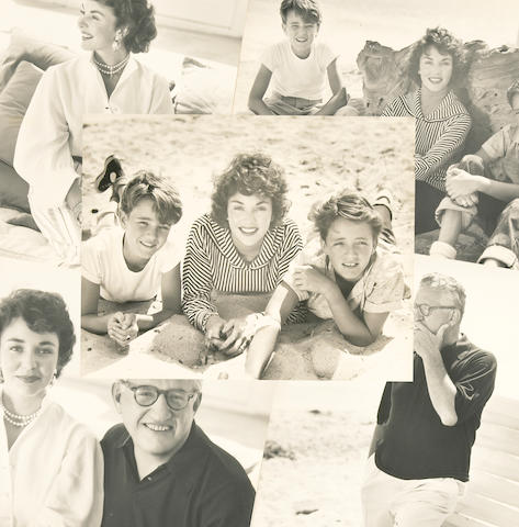 A Jennifer Jones and David O. Selznick collection of black and white professional family photographs, 1950s