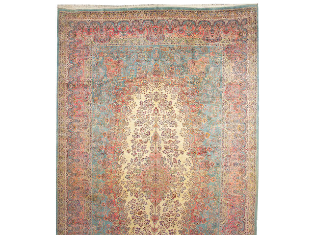 A Kerman carpet South Central Persia, size approximately 12ft. x 21ft.