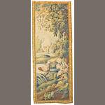 A Tapestry France, size approximately 3ft. 4in. x8ft. 4in.
