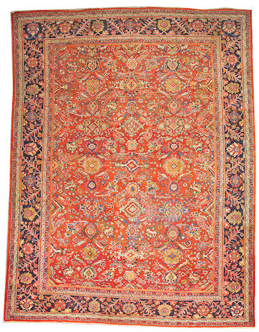A Mahal carpet Central Persia, size approximately 10ft. 10in.x 14ft. 2in.