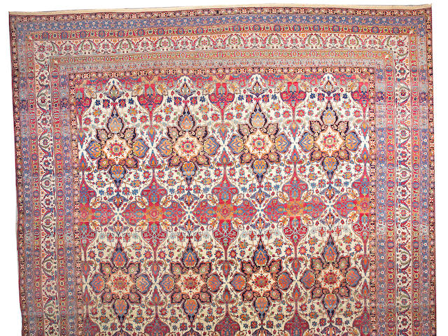 A Lavar Kerman carpet South Central Persia, size approximately 17ft. 11in. x 24ft. 2in.