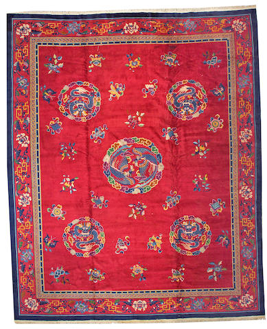 A Chinese carpet China, size approximately 12ft. x 14ft. 6in.