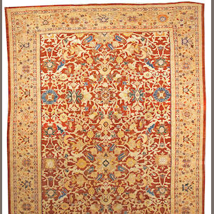A Sultanabad carpet Central Persia, size approximately 12ft. 3in. x 19ft. 11in.