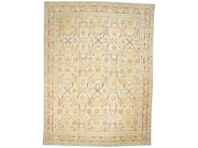 A Tabriz carpet      Northwest Persia, size approximately 11ft. 8in. x 15ft. 8in.