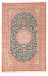 A silk Qum rug Central Persia, size approximately