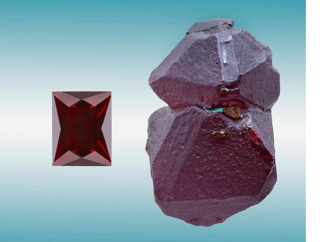 Cuprite Rough and Cut