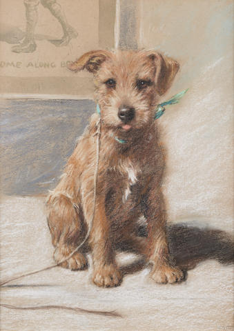 Follower of Cecil Charles Windsor Aldin, RBA (British, 1870-1935) Caffy - an Irish Terrier 16 1/6 x 12 in. (40.8 x 30.5 cm.)