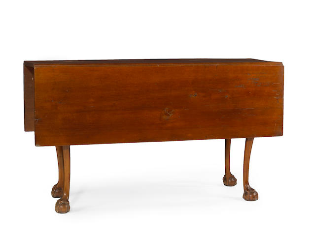 A Chippendale mahogany drop leaf table, New England, late 18th century, top restored