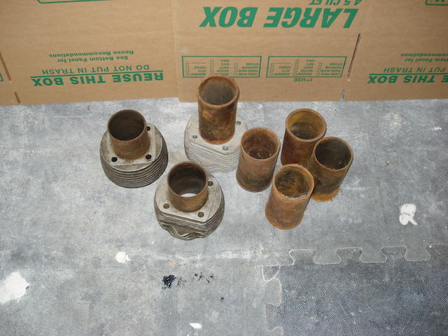 Three cylinder barrels,