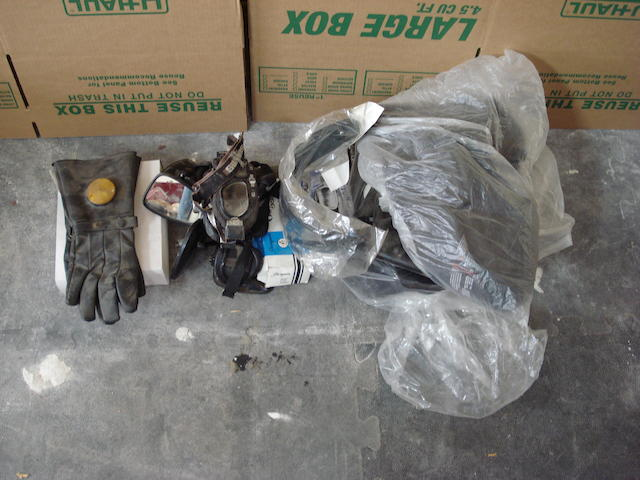An assorted lot of motorcycle accessories,