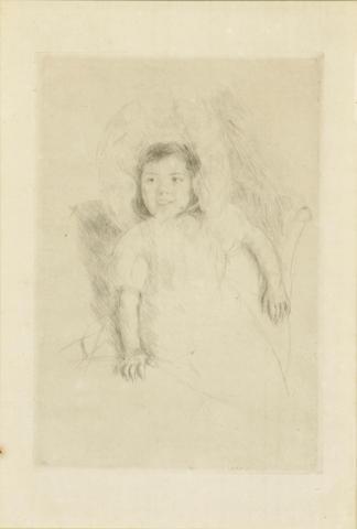 Mary Cassatt (American, 1845-1926); Margot wearing a Bonnet (No. 3);