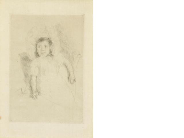 Mary Cassatt (American, 1845-1926); Jeanette wearing a Bonnet;