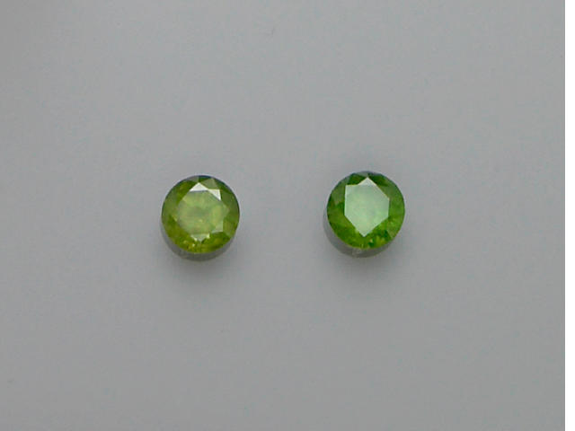 Two Demantoid Garnets