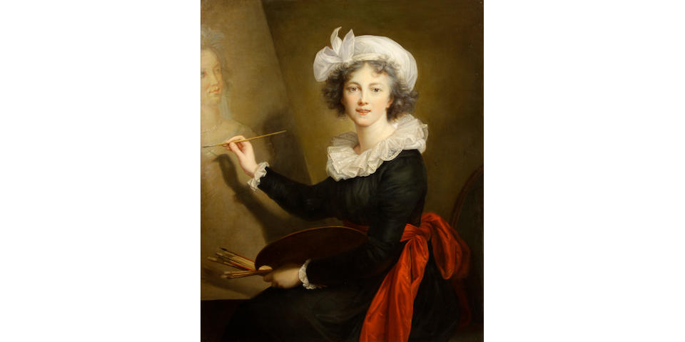 After Elisabeth Louise Vigée Le Brun The artist at work (self-portrait)