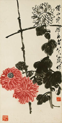 Qi Baishi (1863-1957) Chrysanthemums and Peonies