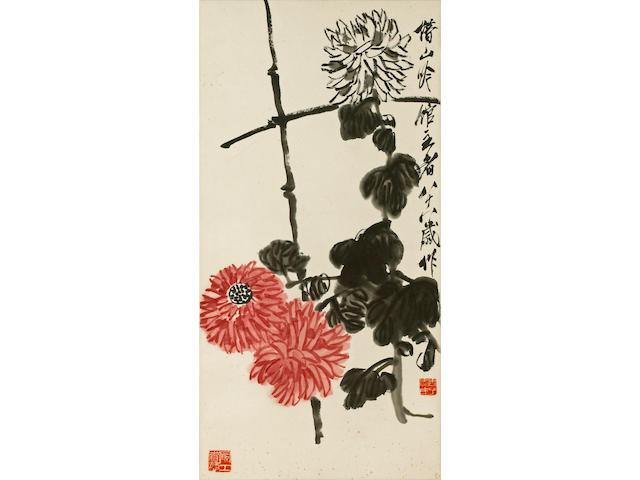 Qi Baishi (1863-1957) Chrysanthemums and Peonies