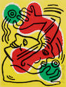 Keith Haring United Nations screenprint;